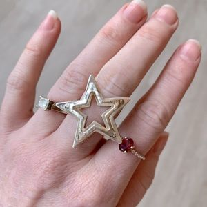 Sterling .925 adjustable star ring